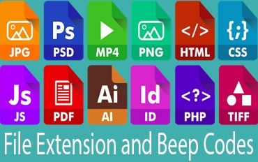 File Extension and Beep Codes,types of file extensions