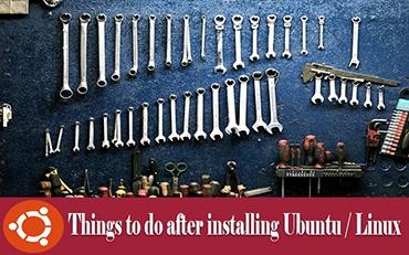 after installing Ubuntu