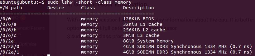 hardware information linux | lshw