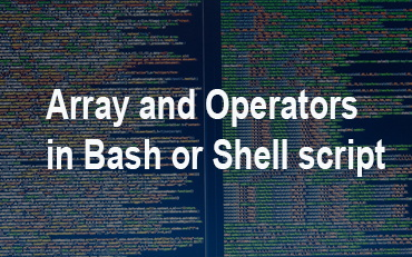 bash array and operator in shell script
