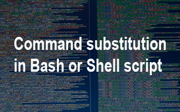 bash command substitution escape sequences and Metacharacters