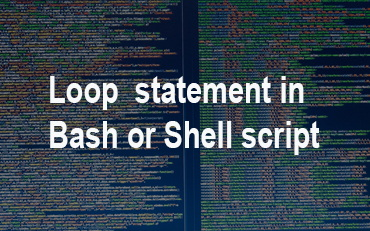 loop statment in bash or shell script